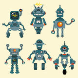 Cute little Robots Collection Stock Images