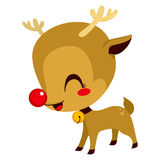 Cute Little Rudolph Reindeer Stock Images