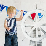 Cute little sailor boy Royalty Free Stock Image