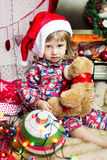 Cute little santa baby Royalty Free Stock Photos