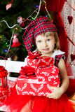 Cute little santa baby Royalty Free Stock Photo