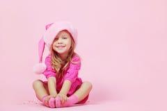Cute little Santa helper Stock Image