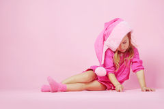 Cute little Santa helper Stock Photography