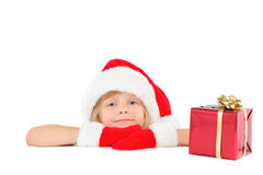 Cute little Santa helper Royalty Free Stock Images