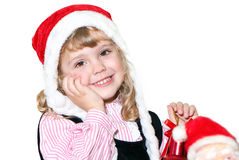 Cute little Santa helper Royalty Free Stock Photos