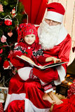 Cute little santa kid Royalty Free Stock Photo