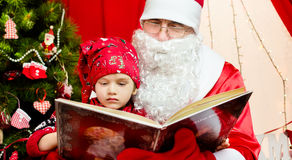 Cute little santa kid Royalty Free Stock Images