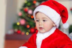 Cute little Santa stock photography