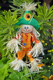 Cute little scarecrow decoration Royalty Free Stock Photography