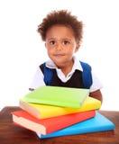 Cute little schoolboy Stock Image
