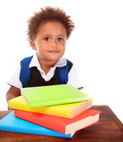 Cute little schoolboy Stock Photography