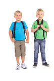 Cute little schoolboys smiling at camera Royalty Free Stock Image