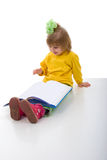 Cute Little Schoolgirl Stock Photo