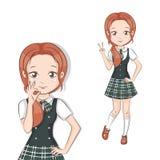 Cute little schoolgirl. Stock Image