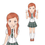 Cute little schoolgirl. Stock Photography