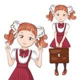 Cute little schoolgirl. Royalty Free Stock Images