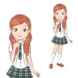 Cute little schoolgirl. Royalty Free Stock Photos