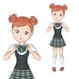 Cute little schoolgirl. Royalty Free Stock Photo