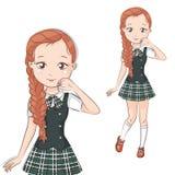 Cute little schoolgirl. Stock Photo