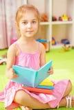 Cute little schoolgirl Royalty Free Stock Photos