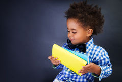 Cute little schoolkid Stock Images