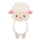 Cute little sheep animal character Royalty Free Stock Photo