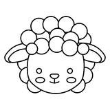Cute little sheep animal character Stock Images