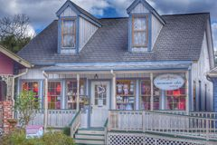 Cute little shop. Colorful cute shop in League City Texas Royalty Free Stock Image