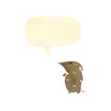 Cute little shrew with speech bubble Royalty Free Stock Photo
