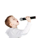 Cute little singer Stock Photos