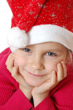 Cute little smiling Santa girl Stock Image