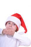 Cute little smiling Santa girl Royalty Free Stock Photography