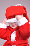 Cute little smiling Santa toddler boy Royalty Free Stock Photography