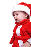 Cute little smiling Santa toddler boy Stock Images
