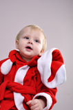 Cute little smiling Santa toddler boy Royalty Free Stock Images