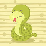 Cute little snake background, kids t shirt design and education Royalty Free Stock Image