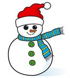 Cute little snowman. Cute little smiling snowman vector Royalty Free Stock Image
