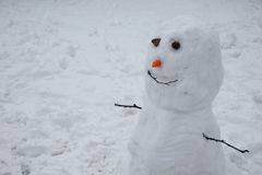 Cute Little Snowman Stock Images