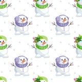 Cute little snowmen Stock Photo