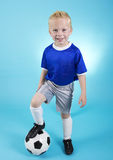 Cute little Soccer Star Portrait Royalty Free Stock Images
