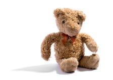 Cute little soft stuffed teddy bear on white Royalty Free Stock Photo