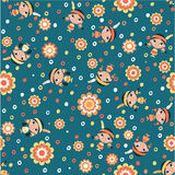 Cute little squaws. Vector seamless pattern in custom colors royalty free illustration