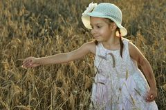 Cute little standing girl Stock Photo