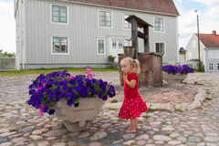 Cute little swedish girl Royalty Free Stock Photos