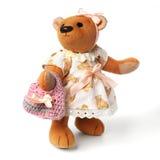 Cute little teddy bear. On white Stock Photography