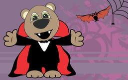 Cute little teddy bear hug dracula costume halloween backgorund Stock Image