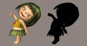 Cute Little Thing. Fantasy figure for your artistic creations and/or projects Royalty Free Stock Image