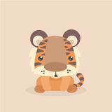 Cute little tiger. Stock Images