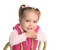 Cute little toddler girl Stock Images