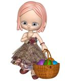 Cute Toon Easter Girl Stock Photos